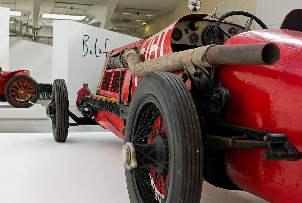 "This is the very aptly named 1923 Fiat ""Mefistofele""."